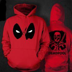 Deadpool Costume Hoodies with a Print for men. Buy online deadpool costume hoodie for adults in red hood coat cartoon clothing cosplay Hoodie Sweatshirts, Fleece Hoodie, Hoodie Jacket, Fleece Jackets, Red Hoodie, Cartoon Outfits, Deadpool Hoodie, Deadpool Superhero, Deadpool Stuff