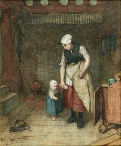 "Bernardus Johannes Blommers 1845 - 1915 ""First Steps"""