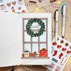 10 Christmas Bullet journal spreads to use this December - Happy Christmas - Noel 2020 ideas-Happy New Year-Christmas Bullet Journal Christmas, December Bullet Journal, Bullet Journal Cover Page, Bullet Journal 2020, Bullet Journal Notebook, Bullet Journal Aesthetic, Bullet Journal Ideas Pages, Bullet Journal Spread, Bullet Journal Layout