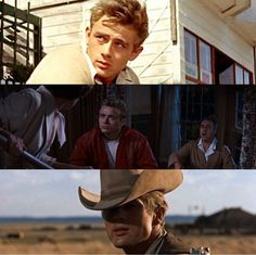 James Dean East of Eden, Rebel without a cause, Giant