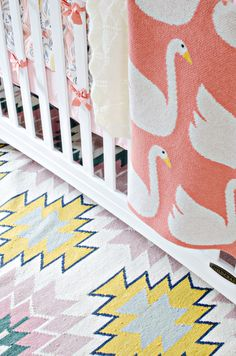 Fun textiles for a nursery | The Vintage Rug Shop, Brittany Makes