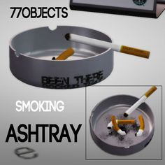 77objects smoking ashtray and cigarette box set - Sims 3 Downloads CC Caboodle