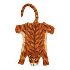 Sew heart felt Tapis tigre Orange