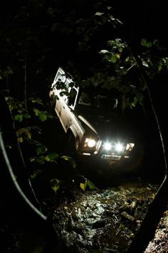 Land Rover Defender at night Land Rover Defender 110, Landrover Defender, Defender 90, Drivers Edge, Land Rover Off Road, Off Roaders, Best 4x4, Off Road Adventure, Expedition Vehicle