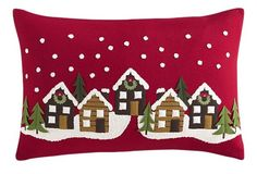 Shop plush throw pillows in square, rectangle and oval shapes from Crate and Barrel. Christmas Sewing, Christmas Pillow, Felt Christmas, Christmas Holidays, Christmas Cushions To Make, Christmas Crafts, Christmas Decorations, Christmas Ornaments, Holiday Decor