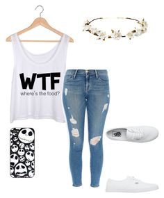 """""""Untitled #33"""" by pheobe-poindexter on Polyvore featuring Frame Denim, Vans and Cult Gaia"""