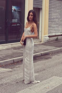 silky sequin gown