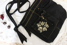 Black Crossbody handbags Black jeans handbag by Nazcolleccolors - Beach Jewelry Fashion Bags, Womens Fashion, Black Shoulder Bag, Shoulder Bags, Black Crossbody, Black Handbags, Ladies Dress Design, Cross Body Handbags, Street Style Women