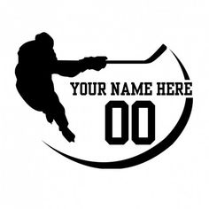 """Hockey Sticker  $6.00 FOOTBALL STICKER $6.00 Team car window decals are a great way to show pride for your player. Personalize a decal with the number or name of the special athlete in your life. Die cut from quality 6 year material. Solid in one color. Size is approximately 6"""" tall. Designed for exterior application; truck/car windows, laptop, just about any smooth, clean surface Proudly made in the USA (by Americans)!"""