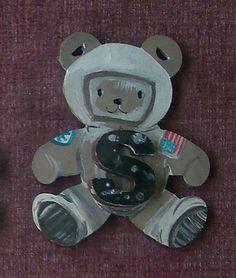 little astronaut bear with cute letter 'S' on his by ArtZeeboze
