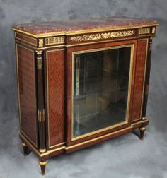 Very Fine French Vitrine Cabinet Attributed to F. Linke