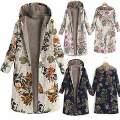 4ac304d2d0 Women Outwear Overcoats Cardigan Plus size Winter Ladies Casual Thicken  Printed