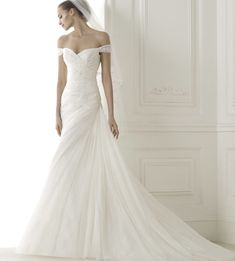 The Pronovias #wedding dresses Pre-2015 bridal collection is everything we could have hoped for plus more! To see more: http://www.modwedding.com/2014/06/05/pronovias-wedding-dresses-2015-colleciton-part-1/ #wedding #weddings #pronovias #fashion