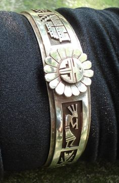 Vintage Old Oriabi Hopi Silver Cuff Bracelet by boxerlovinglady, $500.00