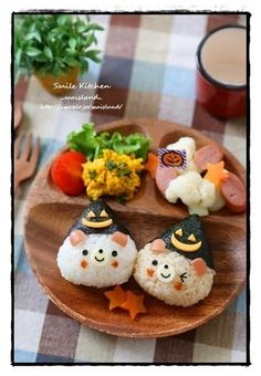 Halloween bears lunch plate