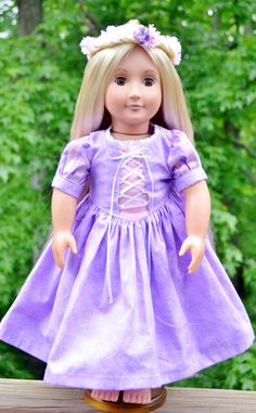 American Girl Rapunzel Dress New improved by DreamsicleDesign, $30.00