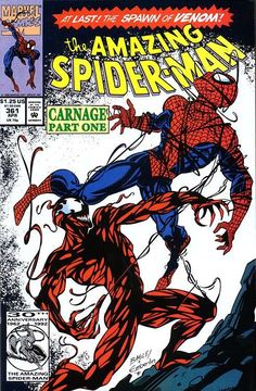 Amazing Spider Man #361 First Appearance of Carnage.