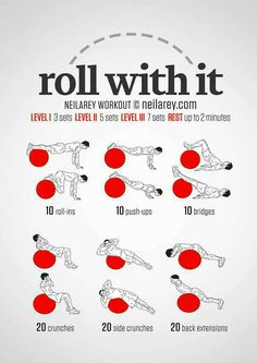 Just Roll With It. Core & Abs Exercise Ball Workout , Just Roll With It. Core & Abs Exercise Ball Workout Just Roll With It.