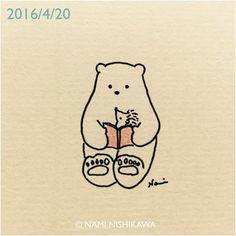 828 #illustration #hedgehog #polarbear #イラスト #ハリネズミ #シロクマ #illustagram
