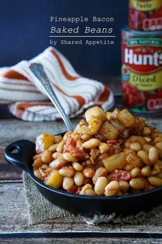 Summer Recipes: Pineapple Bacon Baked Beans by @sharedappetite