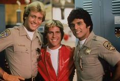 Tom Reilly, Bruce Penhall, and Erik Estrada (season 39617430 Larry Wilcox, 80 Tv Shows, Movies And Tv Shows, Chips Series, Battle Dress, Cop Show, 80s Tv, Chips And Salsa, Actor