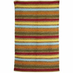 Chenille Stripe Rug  This would be perfect for my hallway