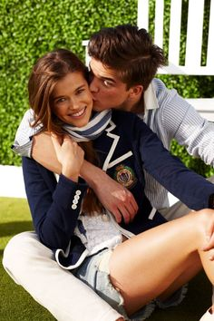 Blue with white trim #kiss #kisses #kissing #couple #love #passion #romance