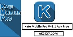Kate Mobile Pro V48.1 Mod For Apk Free Download. Kate Mobile – excellent customer VKontakte android. His many users have chosen for their convenience, speed, and reliability. With it, you can always stay connected with their friends. And with the help of Kate Mobile, you can watch in... https://apk24x7.com/kate-mobile-pro-apk-free-download/