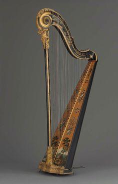 Harp  Godefroi Holtzman, about 1785  Maple, spruce  Museum of Fine Arts, Boston