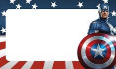 Uau! Veja o que temos para etiquetas volta as aulas capitao america 4 Superhero Party, Superhero Classroom, Captain Amerika, Captain America Wallpaper, Captain America Birthday, Disney Names, Book Labels, Bookmark Craft, Unicorn Birthday Invitations