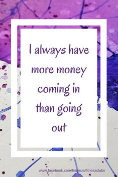 Daily wealth affirmations. use the affirmation and see what it brings up for you.