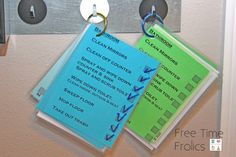 Free Time Frolics: Command Center {Chore Cards} Based on Parenting Breakthrough Zone Cleaning, Cleaning Checklist, Cleaning Tips, Cleaning Recipes, Printable Chore Cards, Free Printables, Family Command Center, Command Centers, How To Clean Mirrors