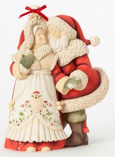 Enesco Heart of Christmas Gift Masterpiece Santa W Snow Globe ...
