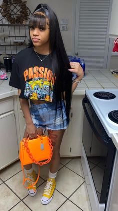 Boujee Outfits, Baddie Outfits Casual, Swag Outfits For Girls, Teenage Girl Outfits, Cute Swag Outfits, Teenager Outfits, Dope Outfits, Teen Fashion Outfits, Simple Outfits