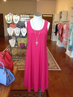 Pink Sundress and Necklace from Finley's Boutique!