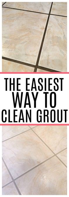 Dealing with dirty grout? Check out the easiest way to clean grout. See how to c… Dealing with dirty grout? Check out the easiest way to clean grout. See how to clean grout without a lot of scrubbing. Your grout will look like new again!