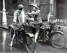 Women on motorcycles- 1930s