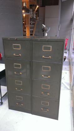Vooroorlogse archiefkast groen(Roneo)