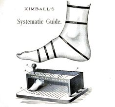 Kimball's classified measurement for lasts .. (1882). Scan of 2 d images in the public domain believed to be free to use without restriction in the US.