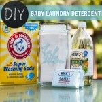 Easy DIY Baby Laundry Detergent- Contains some really awesome laundry ideas