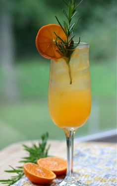 Clementine Rosemary Cocktail - 1 oz vodka, 1/2 oz brandy, 2 oz fresh clementine juice, 1 tsp lemon juice.  Mix all ingredients in ice-filled shaker, shake, strain into ice-filled glass.  Garnish with 1 spring of rosemary and clementine slice.