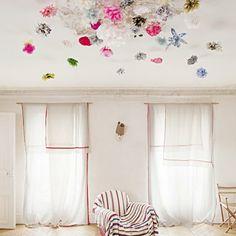Decorar el techo con papel