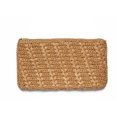 AERIN Diagonal Weave Raffia Clutch ($175) ❤ liked on Polyvore featuring bags, handbags, clutches, purse, print purse, pattern purse, party purse i print handbags