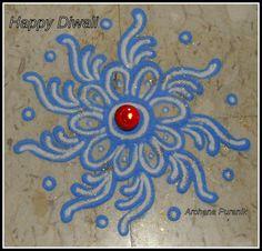 My Rangoli. - by Archana Puranik Colorful Rangoli Designs, Rangoli Designs Diwali, Rangoli Designs Images, Kolam Rangoli, Beautiful Rangoli Designs, Mehandi Designs, Indian Rangoli, Rangoli Patterns, Rangoli Ideas