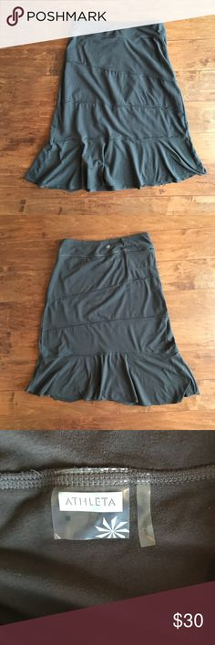 ATHLETA Crescendo Asymmetrical Skirt ATHLETA Crescendo Asymmetrical Skirt  Size Medium Color Brown Style 862111 Great condition. Athleta Skirts Asymmetrical
