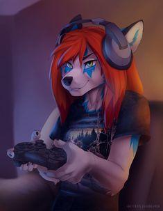 Voil gamer-girl - by Koul
