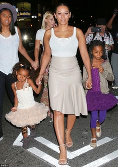 Family time: On Monday night Mel was seen enjoying dinner with her three daughters Phoenix, 16, Angel, eight, and Madison, four