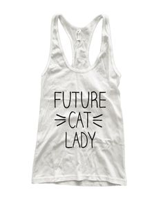 Future Cat Lady Whiskers Fine Jersey Racerback Tank Top