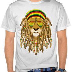 Animal t-shirt - rasta lion tees - artsivaris