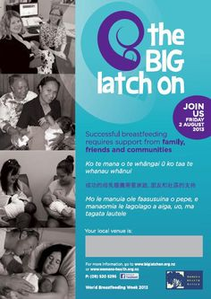 August 2, 2013 is the Big Latch On in New Zealand. Go to www.healthaware.org for link to more information. Breastfeeding, Community, Big, Baby Feeding, Breast Feeding, Nursing